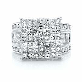 Rachel Koen 14K White Gold Wide Band Diamond Engagement Ring 3.00ct SZ 8