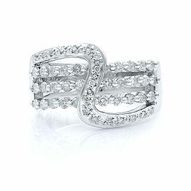 Rachel Koen 14K White Gold Diamond Ladies Ring 0.75ct Size 7.5