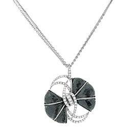 Stephen Webster 18k White Gold 1.07 Cttw Diamonds Quartz Pendant Ledies Necklace
