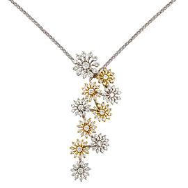 Rachel Koen White & Yellow Gold & 1.19 Cttw Diamonds Pendant Ladies Necklace