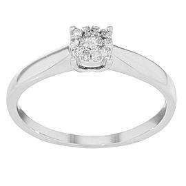 Damiani Illusion 18k White Gold 0.17 Cttw Diamond Engagement Ring Sz6.5