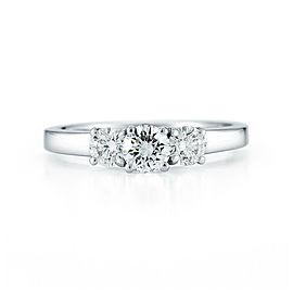 3-Stone Ladies Ring 14K White Gold 1.03cttw IGI Certified Diamond Solitaire