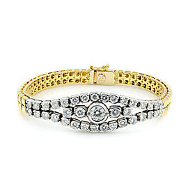 Rachel Koen 18K Gold Diamond Smooth Bracelet 2.75cttw
