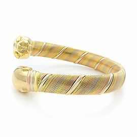 Cartier 18K Tri-color Gold Double Head Panther Bypass Bracelet