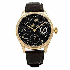 IWC Portugieser Perpetual Calendar 18K Rose Gold Automatic Mens Watch IW503202