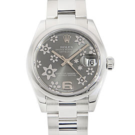 Rolex Datejust 31 Steel Floral Rhodium Dial Automatic Ladies Watch 178240RFO
