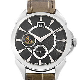 Jacob & Co. Palatial Classic Steel Black Dial Hand-Wind Watch PC400.10.NS.NF.A