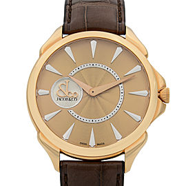 Jacob & Co Palatial 18k Rose Gold Guilloche Automatic Watch 110.300.40.NS.NB.1NS