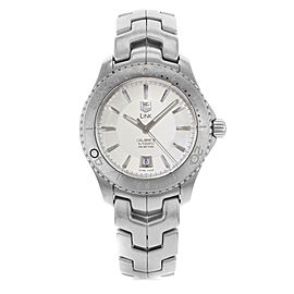 TAG Heuer Link Steel Silver Sticks Dial Automatic Mens Watch WJ201B.BA0591