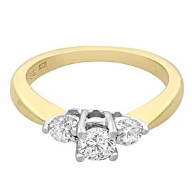 Rachel Koen 14K Yellow White Gold 0.40cttw Diamond Engagement Ring SZ5