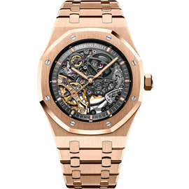 Audemars Piguet Royal Oak 15407OR.OO.1220OR.01 18K Pink Gold 41 mm Mens Watch