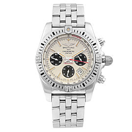 Breitling Chronomat Airborne 44 Steel Silver Dial Mens Watch AB01154G/G786-375A