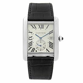 Cartier Tank MC Stainless Steel Silver Dial Automatic Mens Watch W5330003