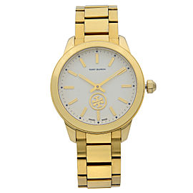 Tory Burch Collins Gold Tone Stainless Steel Cream Quartz Ladies Watch TB1200