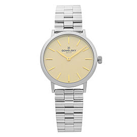 Gomelsky Agnes Varis Steel Beige Dial Quartz Ladies Watch G0120023284