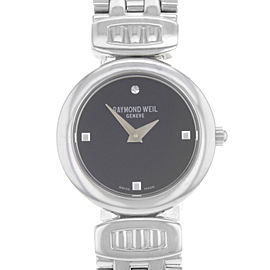 Raymond Weil Chorus Steel Black Dial Quartz Ladies Watch 5890-ST-20082