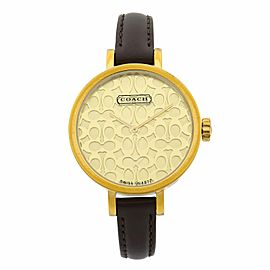 Coach Miranda signature Dial Gold Tone Steel Leather Ladies Watch 14501068