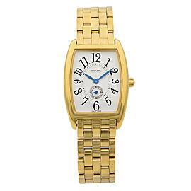 Coach W120 Gold Plated Steel Silver Arabic Dial Quartz Ladies Watch 14500190