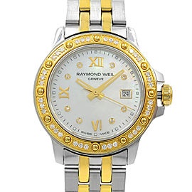 Raymond Weil Tango Gold Tone Steel MOP Dial Quartz Ladies Watch 5399-SPS-00995