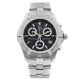 TAG Heuer Professional 2000 Stainless Steel Quartz Mens Watch CN111F.BA0337
