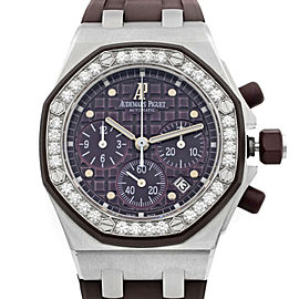 Audemars Piguet Royal Oak Offshore Steel Plum Dial Watch 26048SK.ZZ.D066CA.01
