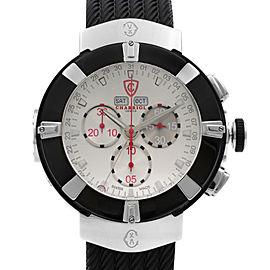 Charriol Celtica Day Date Month PVD Steel Silver Dial Quartz Watch C44B.173.005