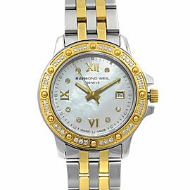Raymond Weil Tango Two Tone Steel MOP Dial Quartz Ladies Watch 5399-SPS-00995