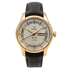 Omega DeVille Hour Vision 18K Rose Gold Automatic Mens Watch 431.63.41.22.02.001