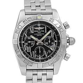 Breitling Chronomat 44 Steel Black Dial Automatic Mens Watch AB011012/B956-375A