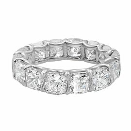 Rachel Koen Platinum Cushion Diamond Eternity Band 8.34cttw Size 6