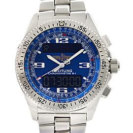Breitling Professional B1 Steel Digital Analog Blue Dial Quartz Men Watch A78362