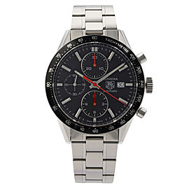 Tag Heuer Carrera Steel Black Dial Automatic Mens Watch CV2014.BA0786