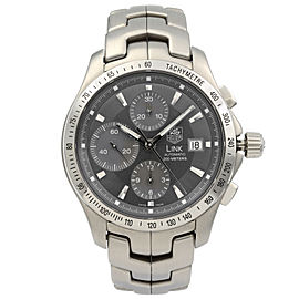 Tag Heuer Link Steel Gray Dial Automatic Mens Chronograph Watch CJF2115.BA0594