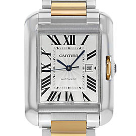 Cartier Tank Anglaise 18K Yellow Gold Steel Automatic Unisex Watch W5310007