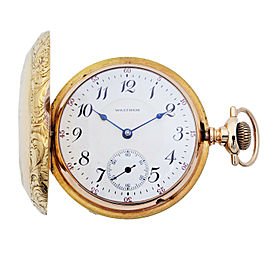 Waltham Rail Print 18k Gold 38113 Circa 1900-1910 Pocket Watch I4058053