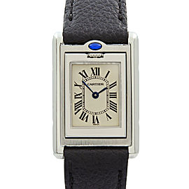 Cartier Tank Basculante Steel Reversible Case Quartz Ladies Watch W1011158