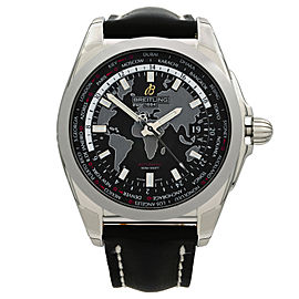 Breitling Galactic Unitime Steel Black Dial Automatic Watch WB3510U4/BD94-744P
