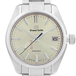 Grand Seiko Heritage Spring Drive Steel Silver Dial Mens Watch SBGA373