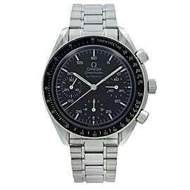 Omega Speedmaster Reduced Steel Plastic Crystal Black Dial Mens Watch 3510.50.00