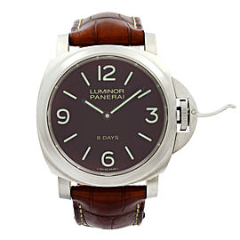 Panerai Luminor 8 Days Titanium Brown Dial Hand Wind Mens Watch PAM00562