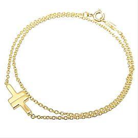 Tiffany & Co 18K Yellow Gold T Double Chain Bracelet