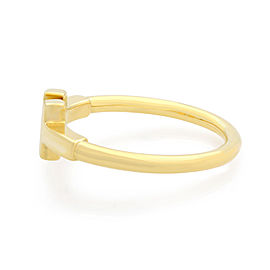 Tiffany & Co 18K Yellow Gold T Wire Ladies Ring Size 5