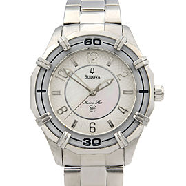 Bulova Solano Marine Star Steel Mother of Pearl Ladies Quartz Watch 96L145