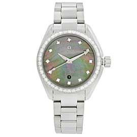 Omega Seamaster Aqua Terra Diamond MOP Dial Ladies Watch 231.15.34.20.57.001
