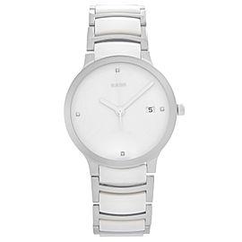 Rado Centrix Jubile Steel Ceramic White Dial Quartz Mens Watch R30927722