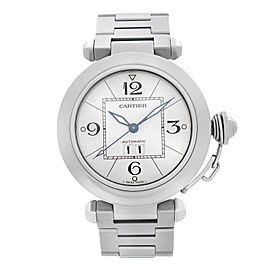 Cartier Pasha 2475 35mm Steel White Dial Automatic Unisex Watch W31055M7