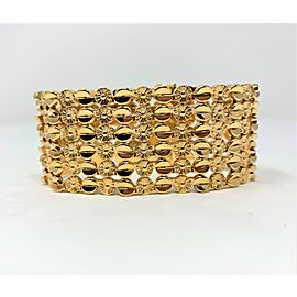 18k Yellow Gold Circle Link Fine Bracelet