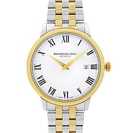 Raymond Weil Toccata Two-Tone Steel White Dial Quartz Mens Watch 5488-STP-00300
