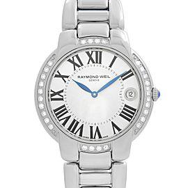 Raymond Weil Jasmine 35mm Steel Diamonds Silver Dial Ladies Watch 5235-STS-01659