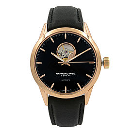 Raymond Weil Freelancer Rose Gold PVD Steel Black Dial Mens Watch 2710-PC5-20011